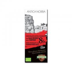 Tavoletta di cioccolato extra fondente 85% con sale rosso...
