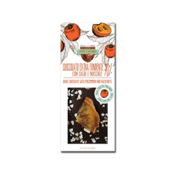 Tavoletta di cioccolato extra fondente  70% con cachi e...