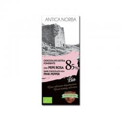 Tavoletta Cioccolato Extra Fondente 85% con Pepe Rosa