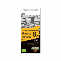 Tavoletta Cioccolato Extra Fondente 85% con Zenzero